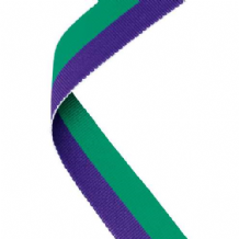 GREEN/PURPLE RIBBON TWO COLOUR